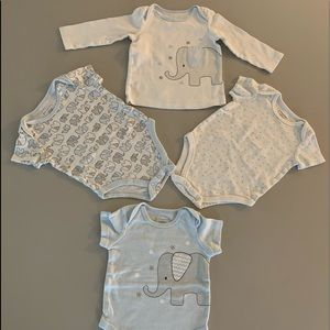 Four Baby 3-6 mos. Tee shirts- First Impressions
